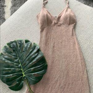 Dresses & Skirts - Peach and black striped mini dress